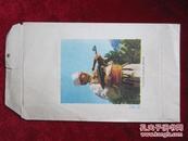 文革空白24开信封一枚(阿尔巴尼亚人民积极进行军事训练 天津五一制本厂制)
