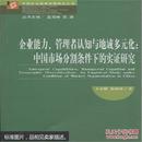 企业能力.管理者认知与地域多元化:中国市场分割