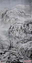 辽宁青年画家周明辉四尺整纸山水《雪乡情思》【精品雪景】