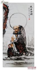 【珍藏名家】中国画院研究会会员@张@松@平大幅水墨精品一一一达摩面壁,他的作品曾在2011年11月北京中嘉国际秋拍卖出8万元佳绩,被业界称为最极具升值潜力的当代中青年画家。
