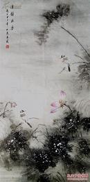 ★★珍藏名家★ ★中国美协会员/中国文联书画艺术中心一级画师/山东画院签约画家秦@霞@大幅得意新作一一清韵出尘,其作品构图严谨而别致,用笔细腻生动,画风极其典雅,工细中润含深邃的意境。