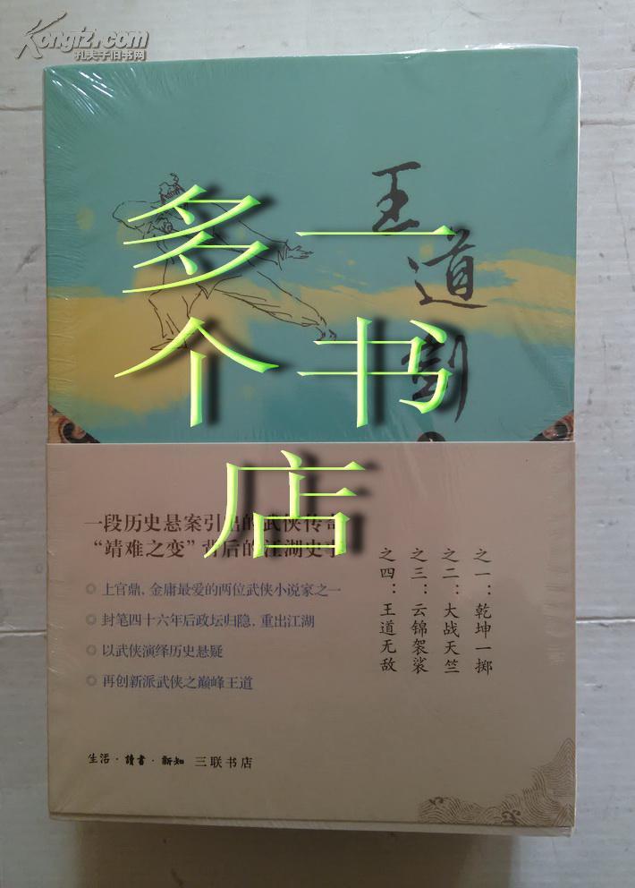 王道剑(乾坤一掷 大战天竺 云锦袈裟 王道无敌)套装共4册
