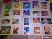 圣斗士星矢怀旧不干胶贴纸贴画28小张加其他5张动画贴纸 已贴在纸上