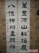 林少明书法作品九幅合售 包括对联一对  其他中堂镜心等八幅 保真