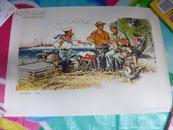 文革年画《战地新歌》  人民美术出版社  1975年1版1印八开