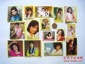 80年代香港明星黄边贴纸  翁美玲/刘嘉玲/张曼玉等  15枚合售
