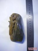 巴林石黄冻印章巧色雕 【11.5厘米x5厘米x5厘米】螳螂