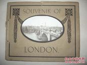 精美画册 1911年英文原版《伦敦游览纪念》一册全 英国伦敦风景名胜 等建筑老照片写真  珂罗版印刷彷如原照