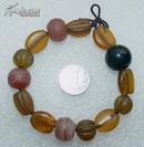 清代 玛瑙 琉璃手串(单个大的径1.6cm单个小的径1.1cm)