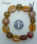 清代 玛瑙 琉璃手串(单个大的径1.45cm单个小的径1.1cm)