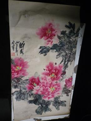 许石寒  画牡丹  52x96
