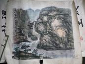 连纪平 山水画 中国艺术研究院,一级美术师 46x40.