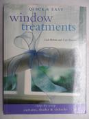 英文原版家装书:QUICK & EASY window treatments