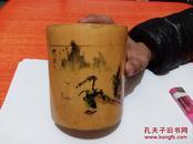 竹黄叶茶叶盒  见图