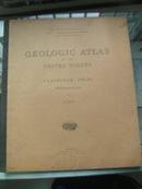 1912年《美国地质地图集》外文原版大开本