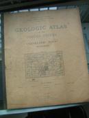 1895年《美国地质地图集》外文原版大开本
