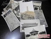 银盐纸 北京地区老照片18张 颐和园建筑石塔石拱桥游廊天坛石雕等 琼蕊斋 老照片清供