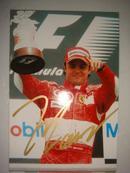 保真签名:F1赛车手 马萨 Felippe Massa(一)
