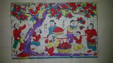 杨家埠木版年画版画大全之152*改革题材胜利果实