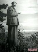 《毛泽东在庐山》1960年、纪念毛泽东同志诞辰100周年、 精美精印高档毛泽东艺术图片、老照片黑白印刷1993年9月