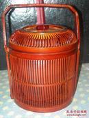 包老包真《高档紫砂茶叶罐》 外带精致竹笼    十分少见   建国初的礼品