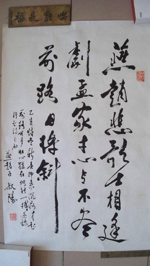"""著名剧作家、作家、文学家、诗人苏叔阳""""励志诗""""书法(包真)"""
