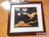 老麦秆画一幅:鹰临长城