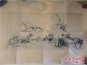 【铁牍精舍】【名家版画】著名版画家张岚军版画作品《野山寂寥》