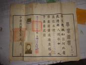 1943年私立北方中学 赵佩如  毕业证书(内有照片.税票.好品