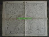 民国地图33【1939年抗日战争珍贵史料】湖北省钟祥县地形图