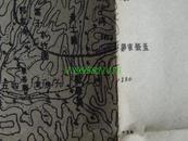 民国地图40【1939年抗日战争珍贵史料】湖北省钟祥县宜城县板凳岗地形图
