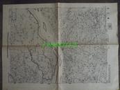 民国地图47【1945年】湖北省宜城县钟祥县流水沟地形图