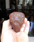 天然奇石观赏石造型石马达加斯加红玛瑙摆件手把件收藏品:雄风