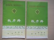 陕西省第一届农民运动会秩序册:田径、射击、篮球3册