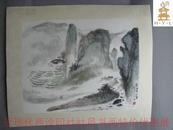 近现代西泠印社社员书画     编480【小不在意---24】钱大礼--著名国画家   -山水画1  观山亭
