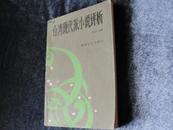 封祖盛编著  文学评论《台湾现代派小说评析》一版一印 现货 自然旧