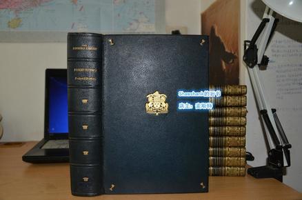 1930年Sir CHARLES FREDERICK _ Fox-Hunting 《獵狐紀》極珍貴作者及插畫家雙簽名本 珍珠摩洛哥羊皮限量375本 初版 現貨包郵