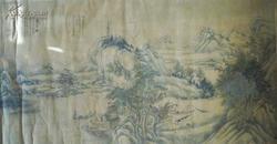 清末民初浙江温州画家黄士洪山水大横幅15平尺(小库)