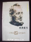20世纪文学泰斗:肖洛霍夫