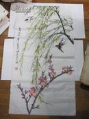 乔木-花鸟画一幅