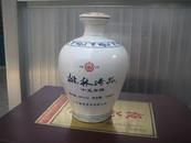 老酒瓶 中国江苏 桃林珍品十五年陈白瓷酒坛 42%vol 500ml 诗画看图