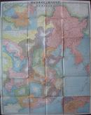 1933年《最新满洲国并支那本部地图》1/380万 福冈日日新闻社发行