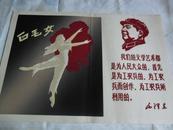 文革 毛主席宣传画 白毛女(植绒)