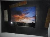 【天津美院流出】获奖巨幅摄影照片 粘贴在展览板上 之二 晚霞中的暮色