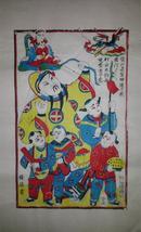 杨家埠木版年画版画大全之023*张仙是圣神