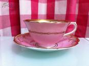 英格兰Collingwoods骨瓷(bone china)杯子和碟子,制作编号7593
