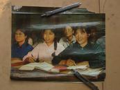 文革宣传画《政治夜校亮堂堂》【27X33CM】【残品,书名是背面手写的】