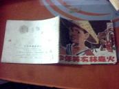 连环画: 少年英雄林森火(有装订孔不明显达9品)一版一印   盒上
