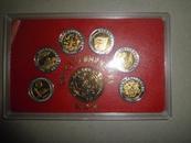 中华人民共和国建国50周年纪念章(祖国颂 大团结等)全套7枚