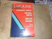 larousse diccionario compact espanol ingles( 拉鲁斯紧凑型英语--西班牙语 西班牙语--英语字典)西英英西双向字典 32开原版
